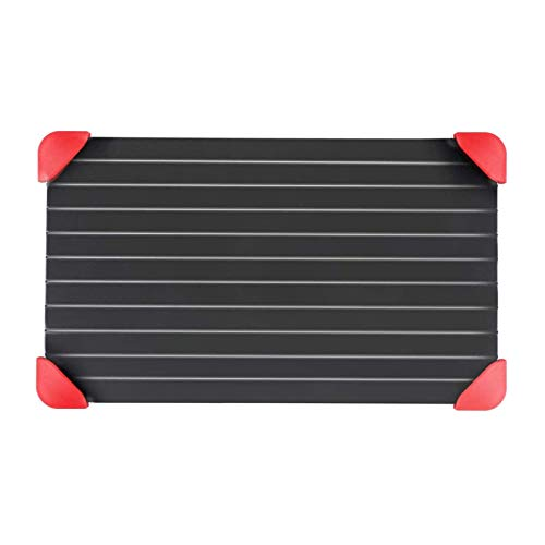 ZFLY-JJ Defrosting Tray,Defrost Board Plate Fast Defrosting,Thawing Kitchen Tool,Frozen Meat,Food Accessories (Color : M(29.5cm*20.3cm*0.2cm))