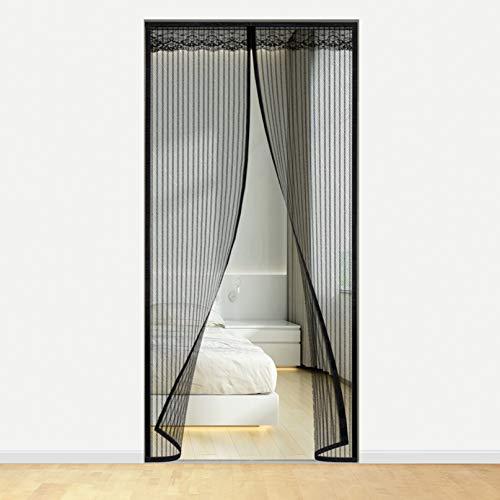 Idefair Puerta magnética para mosquiteras, insectos Mosquito Door Screen Cierre el automática, ideal para la puerta del balcón Sala de estar Bodega Puerta Puerta de patio (120 * 220 cm)