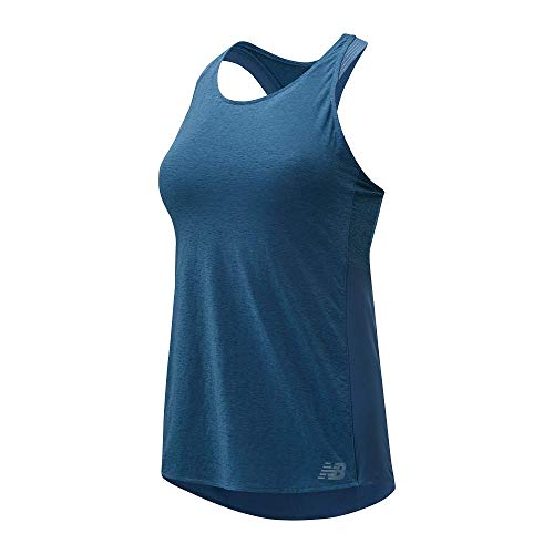 New Balance WT01260 Shirt, Azul, Large Womens