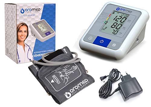 Blutdruckmessgerät Oberarm-Blutdruckmessgerät # mit WHO Ampel Farbskala & Netzteil ORO-N1 BASIC