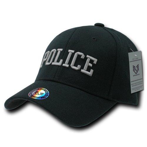 Rapiddominance Police FitAll Flex Cap, Black, Small/Medium