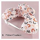 ppqq para Todos multifunción Almohada de enfermería bebé Maternidad amamantamiento Almohada Ajustable Embarazada Mujer Cintura cojín Capa Lavable Cubierta (Color : D Pink Set)