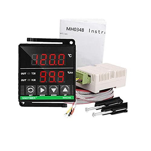 healthwen 48 * 48mm MH0348 Controlador de Temperatura y Humedad de Alta precisión Pantalla de Calentamiento de refrigeración Herramientas de Alto Rendimiento con Sensor