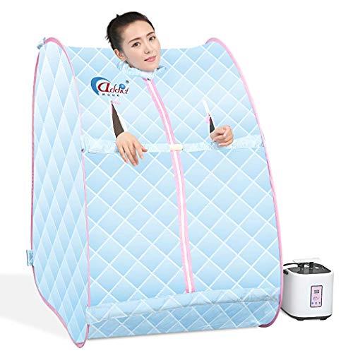 LICHONGUI Tragbare Dampf Sauna Spa Personal Therapeutische Sauna für Gewichtsabnahme Detox Entspannung Single Nutzung Home Sauna Spa Zelt mit Fernbedienung Nennleistung 1000 Watt (Color : Blue)