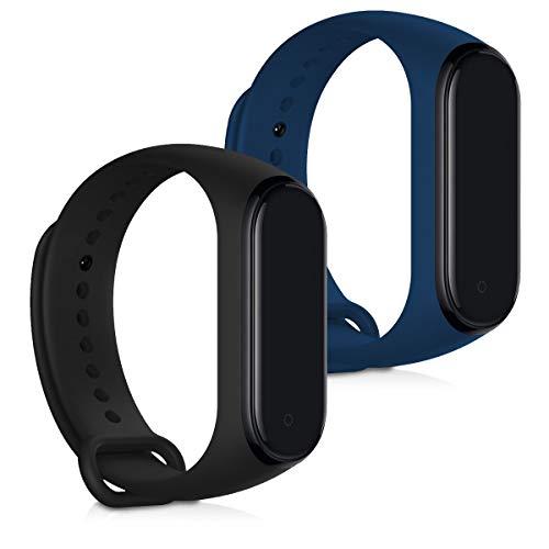 kwmobile Cinturino in Silicone Compatibile con Xiaomi Mi Band 4-2X Fascetta Fitness Tracker con Fibbia ca. 15-22 cm