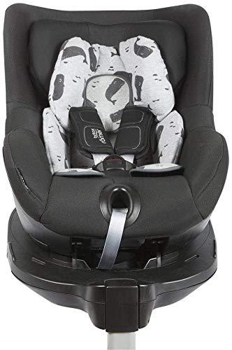 BAOBABS BCN - Reductor Universal para Silla de Coche y Paseo Bebé   Asiento Reductor para Portabebés, Capazo, Sillita de paseo y Cuna   Estampado Grey Carbon W