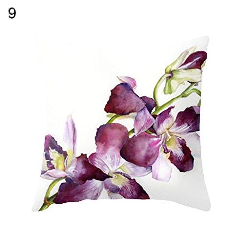 Dontdo élégant Fleur Cactus Taille Throw Coussin Taie d'oreiller Canapé lit Décoration de la Maison, Polyester, 9#, 45*45