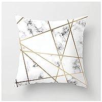 4個入りパック, クッションカバー北欧スタイル枕カバー大理石の幾何学桃の皮の柔らかくてしっかりした装飾的な正方形の枕カバーは、ソファの寝室のカーシートカバーに適しています18x18インチ45x45cmさまざまなスタイル (Color : Style-13)