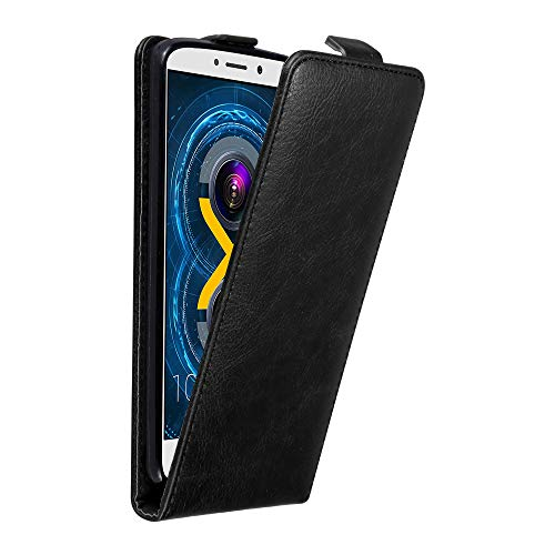 Cadorabo Hülle für Huawei GR5 2017 / Honor 6X in Nacht SCHWARZ - Handyhülle im Flip Design mit unsichtbarem Magnetverschluss - Hülle Cover Schutzhülle Etui Tasche Book Klapp Style