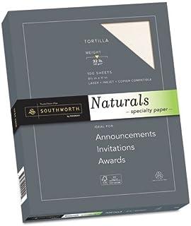 "Southworth Naturals Specialty Paper, 8 1/2"" x 11"", 32 Lb, Flecked Finish, Latte, 100 Sheets"