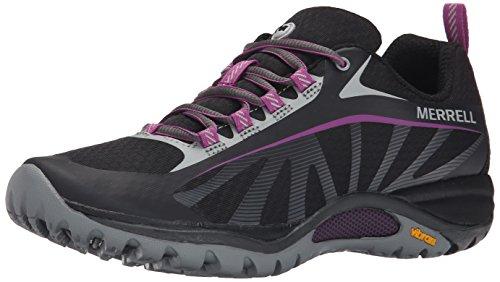 Merrell Women's Siren Edge Shoe, Black/Purple, 7.5 M US