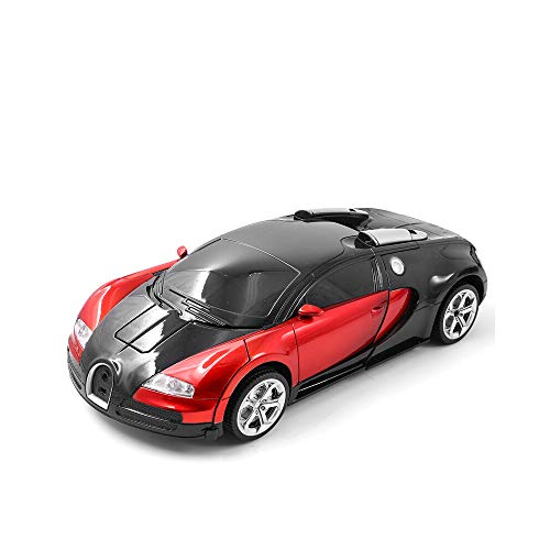 Kikioo 1:12 Modelo de robot de coche, autobots de un solo botón Autobots, 2.4G Modelo de control remoto, coche de juguete, coche deformado en coche de cuatro ruedas Grand Sport Vitesse Stunt Children'