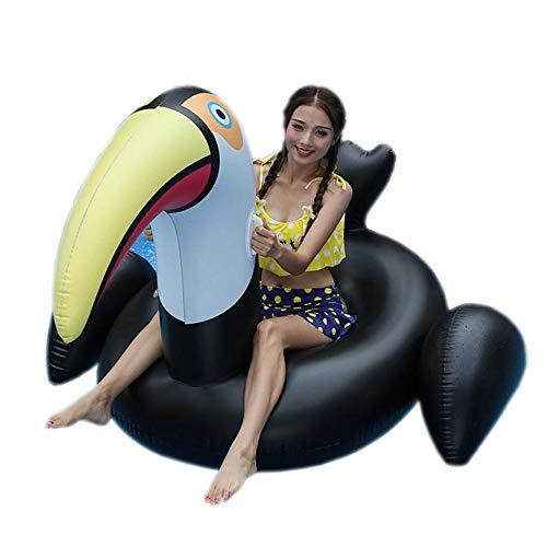 ZBNMGHFT Inflable Black Black Swan Mount Adult Agua Color Flotante Fila Flotación Cisne Inflable Reclinable Material De PVC Espesado 180 × 150 × 110cm