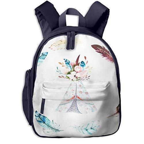 Kinderrucksack Kleinkind Jungen Mädchen Kindergartentasche Stamm Tipi Campingplatz Zelt Backpack Schultasche Rucksack