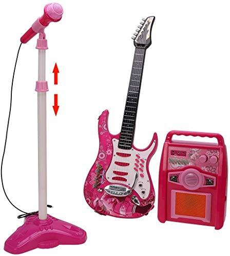 MZZYP Conjunto de micrófonos de Guitarra y Karaoke for niños: Guitarra eléctrica,...