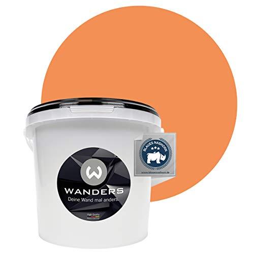 Wanders24® Tafelfarbe (3Liter, frische Aprikose) Blackboard Paint - Tafellack - abwischbare Wandfarbe - in 20 Farbtönen erhältlich - Made in Germany
