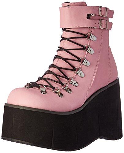 Demonia Women's Kera21/bpvl Ankle Bootie, B. Pink Vegan Leather, 7 M US