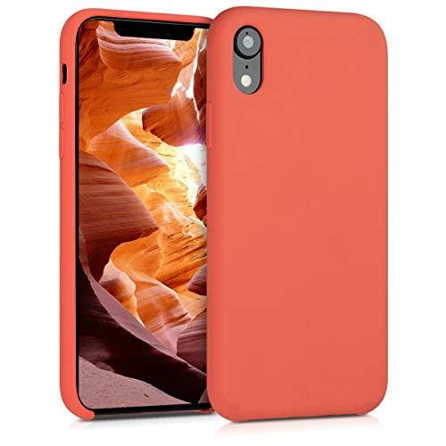 kwmobile Hülle kompatibel mit Apple iPhone XR - Handyhülle gummiert - Handy Hülle in Orange