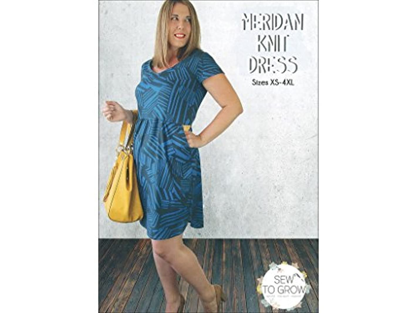 Sew To Grow Knit Dress Sz XS-4XL Ptrn Meridan KnitDressSz XS-4XLPtrn