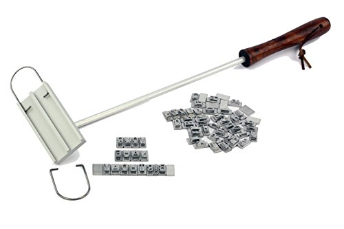 Barbuzzo Customizable BBQ Branding Iron with Changeable Letters