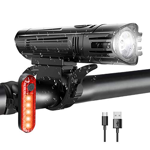 WOTEK Luces para Bicicleta LED Impermeable, Luces Bicicleta