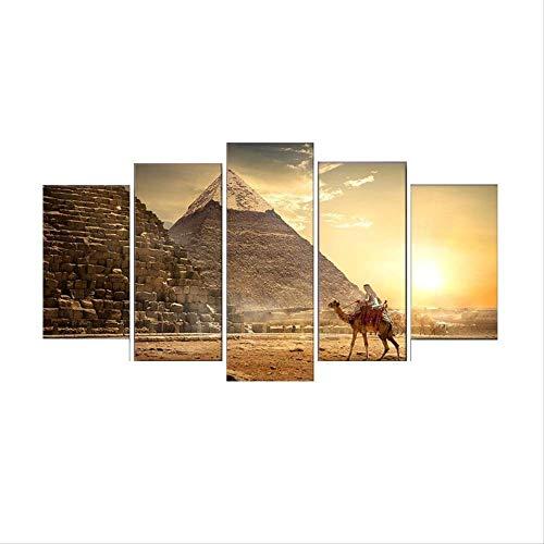 DGGDVP Cuadros Decoracion Dormitorio 5 Piezas de Cuadros modulares Wall Art HD Impresiones Lienzo Pintura Canvas Art Size 1 sin Marco