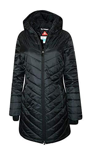 Columbia Womens Morning Light II Omni Heat Long Jacket Coat Puffer, BLACK (XS)