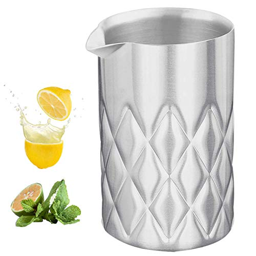 Stainless Steel Mixing Glass-Premium Mixing Glass Bartending-Double Wall Bar Tools-Easy Stirring with Unbreakable -Keeps Drinks Hot or Cold-18 oz 550ml-Great Gift Idea