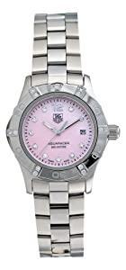TAG Heuer Women's WAF141H.BA0824 Aquaracer Diamond Pink Mother-of-Pearl Dial Watch image