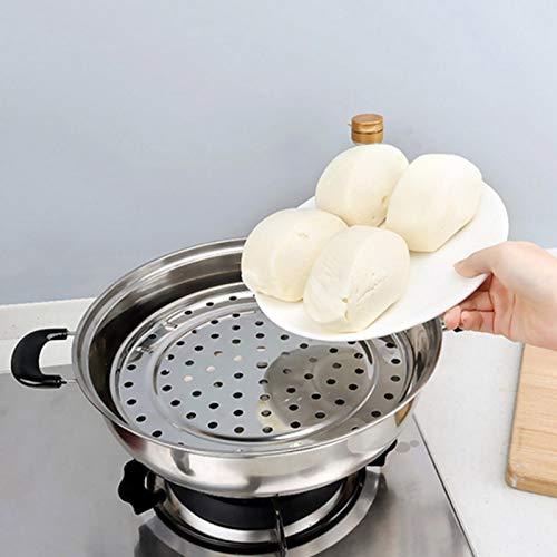 Dampfgarer, Dampfwanne, Dampfregal, ungiftig, langlebig Praktisch für die Küche zu Hause(Medium diameter 24cm)