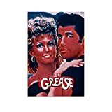 QWSDF Grease Poster, dekoratives Gemälde, Leinwand,