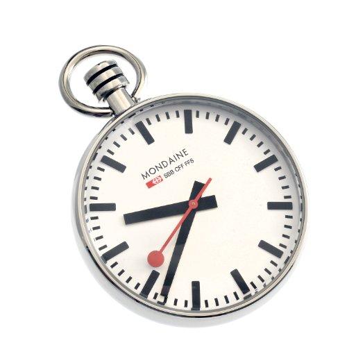 Mondaine Pocket Reloj de bolsillo Con pulsera de cadena