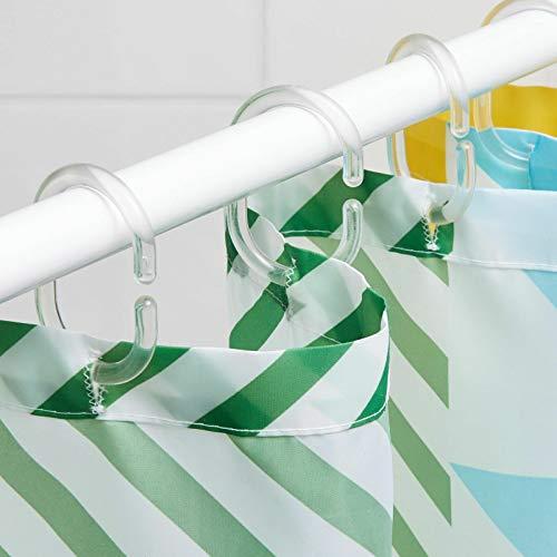 IKEA RINGSJON - Juego de 12 anillas para cortina de ducha (transparente)
