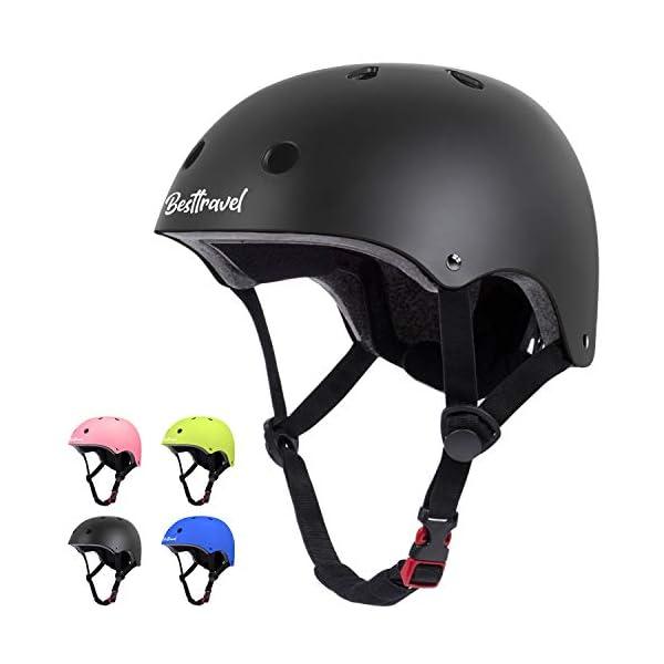 Besttravel Kids Helmet, Toddler Helmet Adjustable Toddler Bike Helmet Ages 3-8 Years...