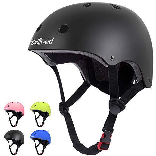 Besttravel Kids Helmets Toddler Helmets Adjustable Toddler Bike Helmet Ages 38 Years Old Boys Girls MultiSports Safety Cycling Skating Scooter Helmet Black