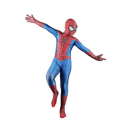 Halloween Superhero Cosplay Costume Home Coming Bodysuit with Detached Mask for Boys/Man