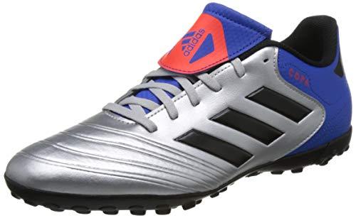 adidas Copa Tango 18.4 TF, Zapatillas de Fútbol Hombre, Plateado (Silvmt/Cblack/Fooblu Silvmt/Cblack/Fooblu), 46 2/3 EU