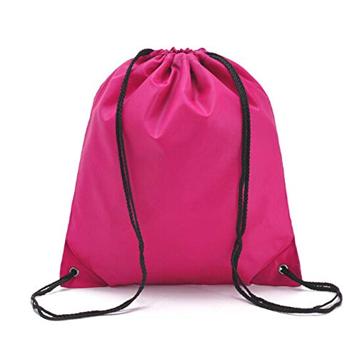 MINASAN Packing Organiser Storage Drawstring Bags for Travel, Cartoon Travel Essential Suitcase Organiser Luggage Shoe Packaging Organiser Bag Cosmetic Case (Rose Red, One Size)