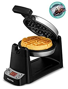 180° ROTATION: This unique waffle maker rotates completely to ensure even batter distribution and perfect, golden cooking consistency COLOR CONTROL: Go dark and crispy or light and fluffy! Adjust your preferred level of crispiness with the easy digit...