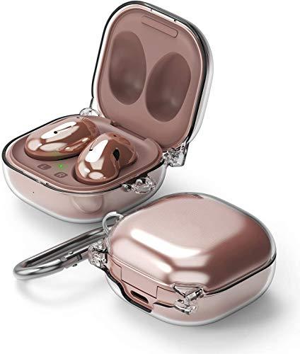 Ringke Hinge Case Kompatibel mit Galaxy Buds Pro Hülle (2021). Galaxy Buds Live Hülle (2020), Kopfhörer Zubehör Hart PC Case Schutzhülle mit Karabiner - Transparent