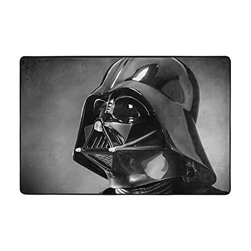 Star Mandalorian Wars Darth Vader Alfombra adecuada para sala de estar, dormitorio, área de los niños, decoración de casa de arte suave y cómoda, 72 x 48 pulgadas