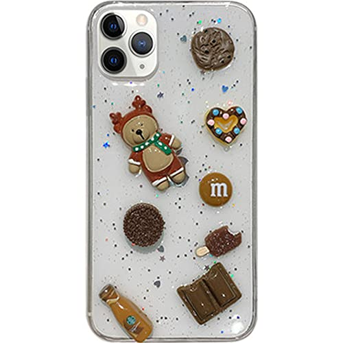 NZAUA Caja Linda del teléfono móvil del Oso 3D, Adecuado para la Cubierta Protectora Transparente Suave de iPhone12, Estuche Protector de Pantalla Anti-Gota y a Prueba de iPhone7-8-4.7