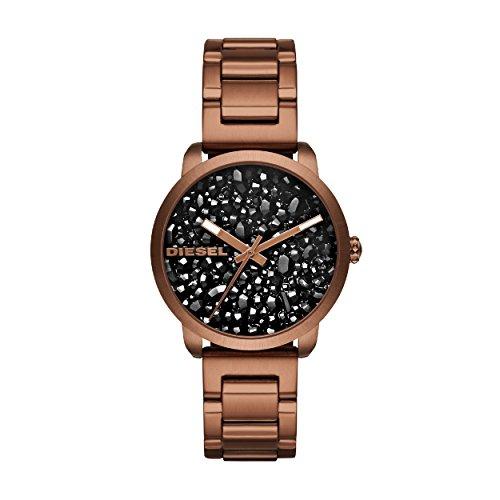 Diesel Dames Analoog Quartz Horloge met RVS Band DZ5560