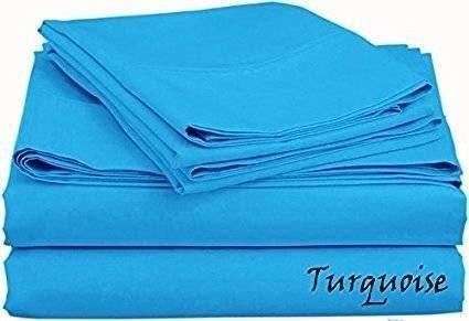 1000 Hilos 6 Piezas Juego de sábanas (Turquise sólido, Reino Unido Doble 135 x 190 cm (121,92 cm 6 in x 6 ft 3 in), tamaño de Bolsillo 42 cm) 100% algodón Egipcio Premium Calidad