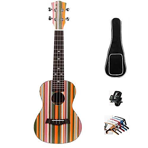 LHR Sopran-Ukulele, 23-Zoll-Konzert-Ukulele-Ranch-Technologie Kleine Holzgitarre Mit Zubehör Musikinstrumentenpaket Für Den Unterricht Von Anfängern Home Entertainment Für Kinder
