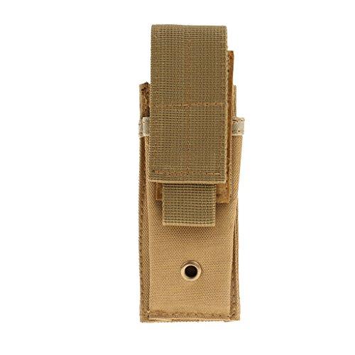 Etanche Tactique Militaire MOLLE Sacoche Sac à Ceinture Attaché à Vest Tactique/Ceinture/Sac - Kaki, 15cm * 6.5cm * 3cm