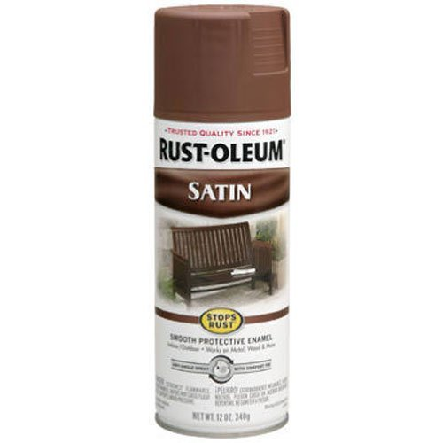 Rust-Oleum 7774830 Satin Enamel Spray, 12-Ounce, Chestnut Brown