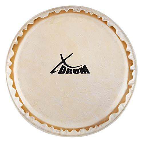"XDrum Bongo Fell 8"" - Natur-Fell für Bongo-Trommel - Durchmesser: 8 Zoll (ca. 203 mm) - Natur"