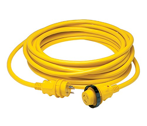 Marinco 30 Amp Power Cord PLUS Cordset - 50 ft yellow in sleeve pack