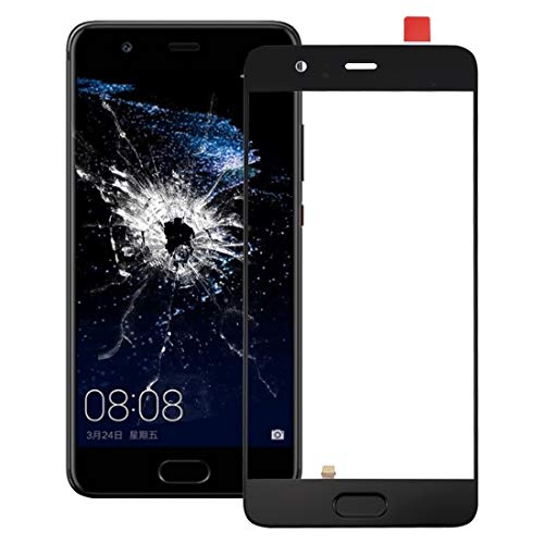 MDYHMC Ntna AYSMG for Huawei P10 Pantalla Frontal Plus Lente Exterior de Cristal, Soporte identificación de Huellas Dactilares (Negro) (Color : Black)